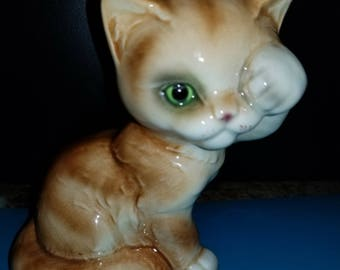 Vintage Goebel Pal Peak a Boo Green Eyed Kitty Cat Kitten