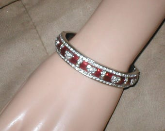 Vintage Rhinestone Bangle Bracelet