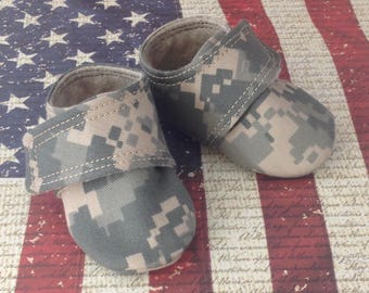 Army Baby Shoes with straps | Newborn, 3-6 Month, 6-9 Month, 9-12 Month, 12-18 Month, 18-24 Month, 3T-4T
