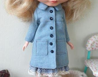 Coat and skirt for blythe