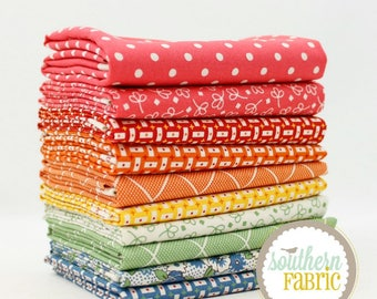 """Bread and Butter - Fat Quarter  Bundle - 10 - 18""""x21"""" Cuts - by American Jane - Moda Quilt Fabric"""