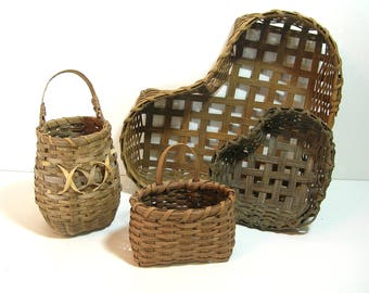 Handmade Country Style Vintage Split Oak Basket Collection