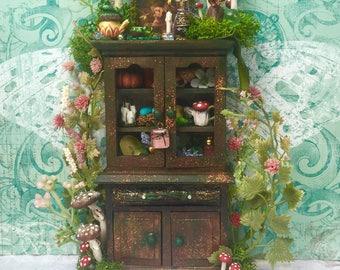 Dollhouse Miniature Fairy Cabinet