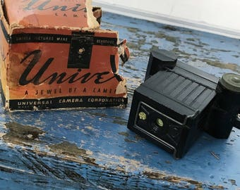 Vintage Univex Camera Mini Spy Camera Bakelite Camera 1930s Camera Box