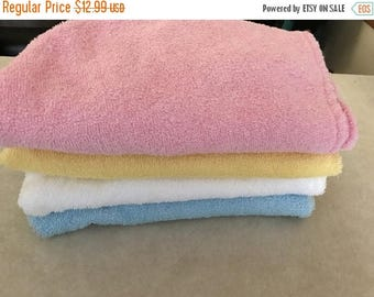 Christmas in July Cotton hair towel/ hair wrap/ hooded towel  (yellow) can choose pink or white too