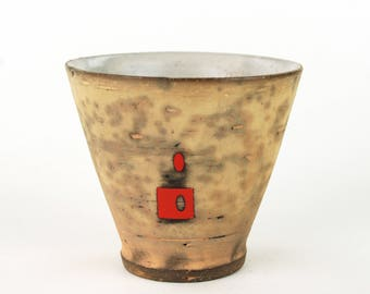Cup with Red Color Blocking