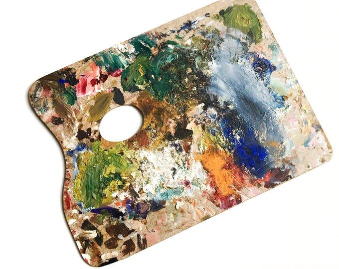 Vintage Artist's Wooden Palette Painter Vintage Art Painting Supplies