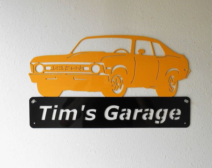 1973 Chevy Nova - Personalized Metal Sign- Man Cave- Classic Car - Muscle Car -Garage Sign -Automotive paint