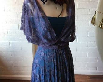 Bohemian Full Lace Vintage Style Long Maxi Octopus Infinity Wrap Dress. Custom Choose your Fabrics~ Bridesmaids, Wedding Guest, Holiday