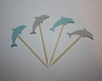 24 mini food picks -  Dolphin