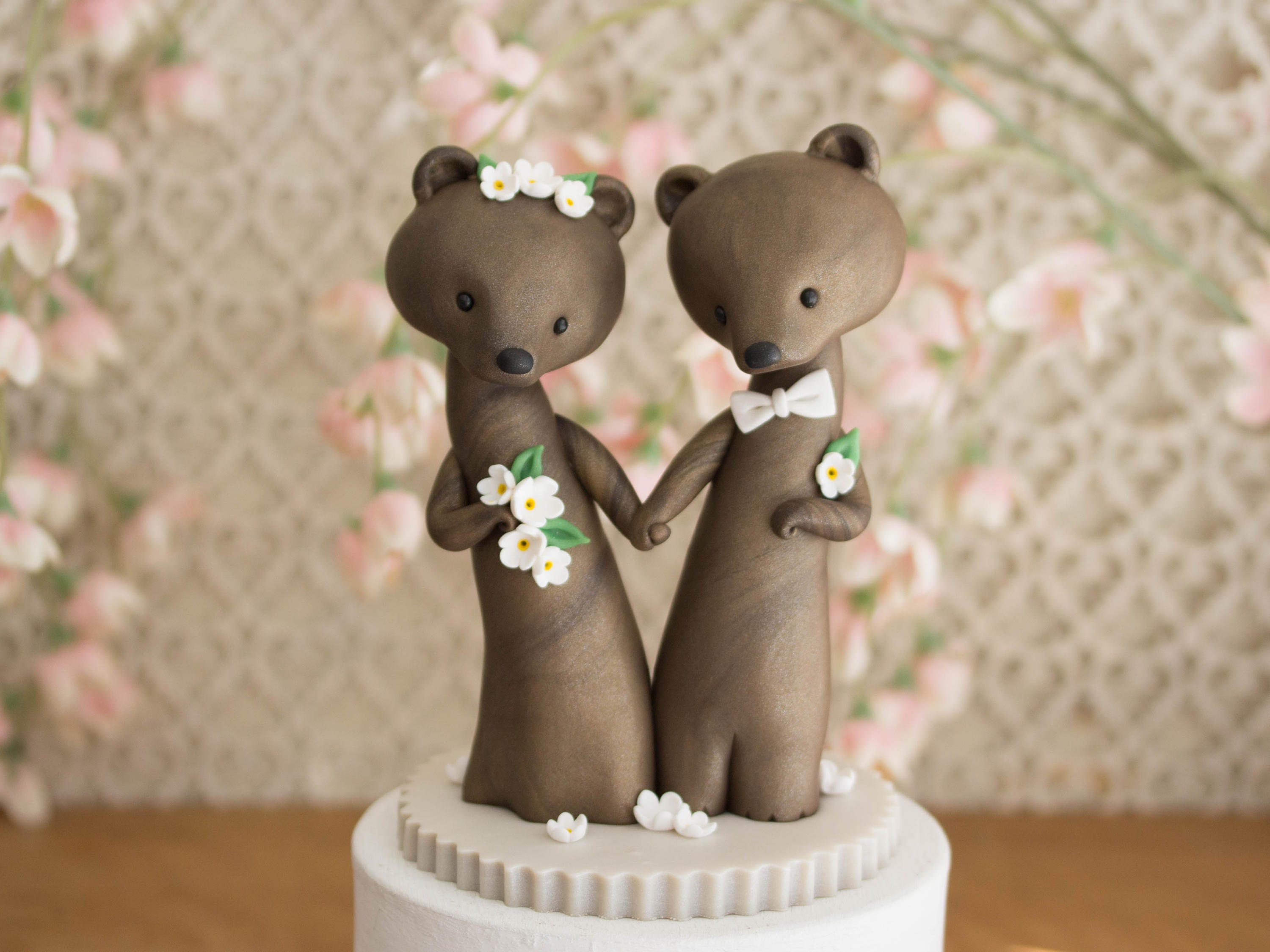 brown bear wedding cake toppers brown wedding cake topper and groom bears by 12190