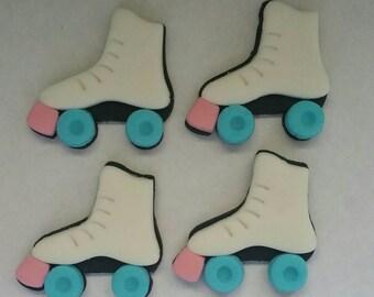 Roller Skate Fondant Toppers- 1 Dozen