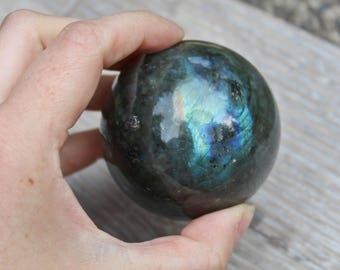 Labradorite Sphere,Labradorite, Protection, Crystal Ball, Crystal Sphere, energy, Gemstone Ball
