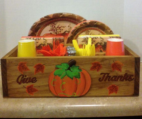 Tableware Caddy, Kitchen Utensil Holder, Tableware organizer, party supplies, Thanksgiving tableware, Fall Decor, Autumn Decor, Thanksgiving