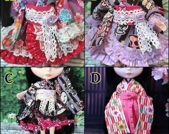 kimono  Dresses,Hakama Blythe,DAL,Licca Takara,Azone
