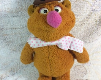 SALE SALE SALE Vintage 1970s Muppets Fozzie Bear Jim Henson Fisher Price Retro Plush Stuffed Animal Adorable