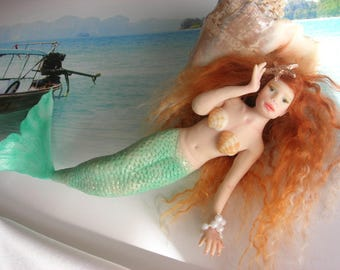 Polymer sculpt mermaid by Yolidolls