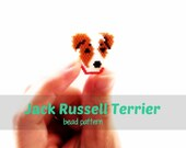 Jack Russell Terrier Brick Stitch Seed Bead Pattern