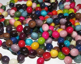 10 Multicolor Tagua Fat Ovals , 7mm, Best Quality, EcoBeads Tagua