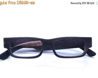 20% off SUMMER SALE Takemoto  Henry Handmade Ebony Wooden Eyeglasses