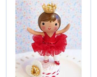 Ballerina Cake Topper, Ballerina Birthday Party Décor, Red  Tutu, Girl First Birthday Party, Little Girl Party,  Ballerina Party Decorations
