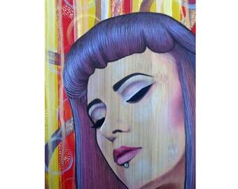 Restless Mind ~ Beautiful Spirit - Pop Art - ART PRINT - 8 x 10 - By Toronto Portrait Artist Malinda Prudhomme
