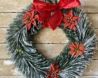 Vintage Retro Christmas Wreath