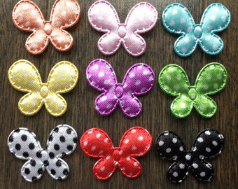 Mini Butterfly Appliques for Making your own Hair Clips