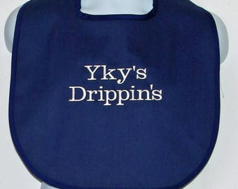 Funny Adult Bib, Canvas, Sloppy, Messy, Dripping, Clothing Protector, Custom Personalize With Name, No Shipping Fee, Ships TODAY, AGFT 1254