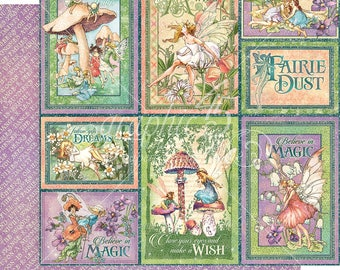 Graphic 45 Fairie Dust Dreamland Sheet, set of 2 sheets 12x12 double sided