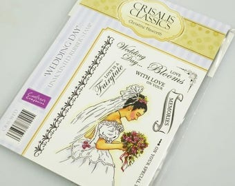 Crisalis Classics - WEDDING DAY - A6 Rubber Stamp Set (Crafters Companion)