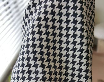 Houndstooth print, silk blouse 1980s