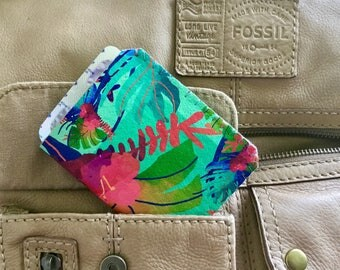Birth Control Pill Case, Pill Case Birth Control, Discreet Case for Birth Control Pills, Pill Cozy - Tropical Delight
