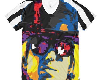 Tom Petty Pop Art Fashion Sublimation women's crew neck t-shirt