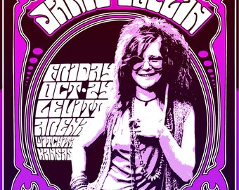 Janis Joplin 1969 Tour Poster