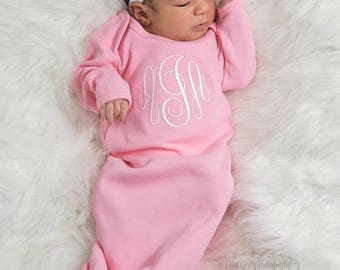 Newborn Girl Coming Home Outfit Baby Girl Clothes Baby Girl Gift Baby Girl Outfit Newborn Baby Girl Outfit Baby Girl Gown Personalized Gift