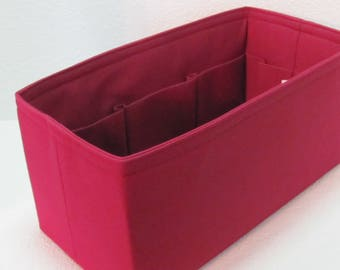 Ready to Ship ..Neverfull GM (14.5x7x7).. Burgundy Rose.... Purse Insert ORGANIZER . . Strong and Durable -  #A4