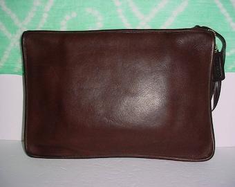 Sale  Vintage  Coach   Rare dark brown  leather Bonnie Ca shin portfolio  briefcase bag .