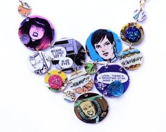 Comic Book Statement Necklace