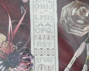 """The Embroidery Studio, """"No 'K' Sampler"""", Counted Cross Stitch Sampler Kit, by Barbara McPhee, Counted Cross Stitch Sampler Bell Pull"""