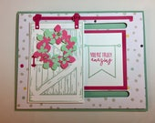 You Did It Barn Door Handmade Greeting Card