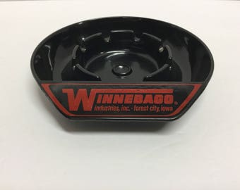 Vintage Winnebago Ashtray Winnebago Camper Ashtray Black Ashtray