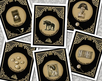 Sherlock Holmes Cards, Notecards, Elementary, Book Lovers Gift, Sherlockian, Baker Street, Hound of the Baskervilles, Victorian Mystery