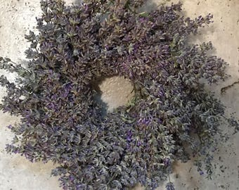 "10"" Dried Lavender Wreath - Dried Flowers"
