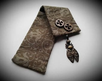 Steampunk Insect Bookmark - Handsewn, Fabric