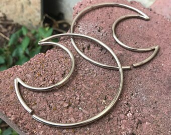 Crescent Hoops - Choose your Color - Hoops - Earrings