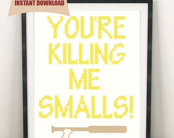 You're Killing Me Smalls - Cross Stitch Pattern – The Sandlot Inspired - Dinosaur - INSTANT DOWNLOAD