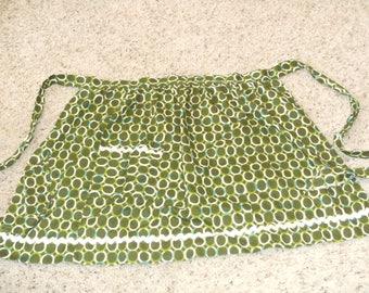 Vintage Green Circle Pocket Apron