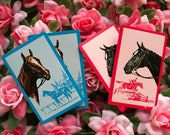 Kentucky Derby Horse Races Thoroughbred Playing Cards Junk Journal
