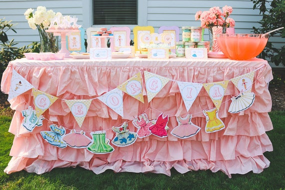 Vintage Paper Doll Party Items